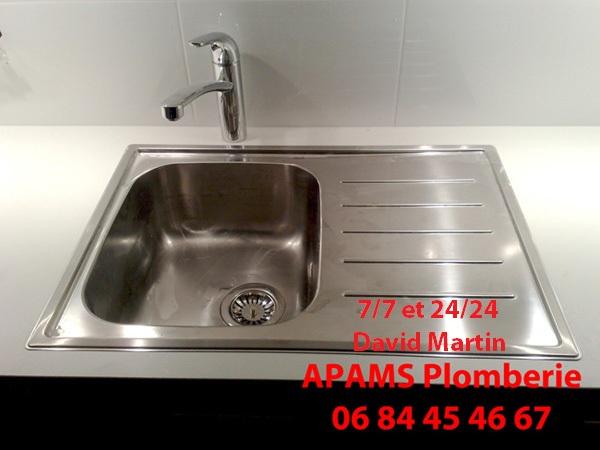 Plombier villefranche 06 84 45 46 67 d pannage plomberie modification de plomberie pour - Tuyauterie evier cuisine ...